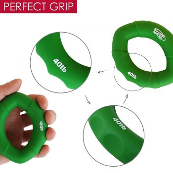 Hand and forearm grip strengthener rings 30-100lbs